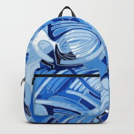 Dove With Celtic Peace Text In Blue Tones Backpack