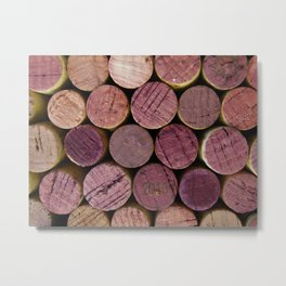 Red Wine Corks 2 Metal Print