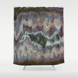 Cady Mountain Banded Agate Shower Curtain