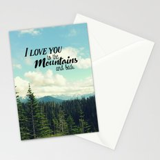To the Mountains and Back Stationery Cards