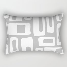 Retro Mid Century Modern Abstract Pattern 335 Gray Rectangular Pillow