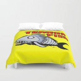 Terror fish Duvet Cover