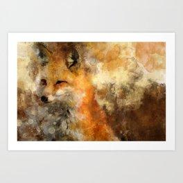 Fox in nature Art Print