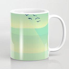 Birds in the evening sunset Coffee Mug