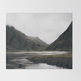 Glen Coe / Scotland Throw Blanket