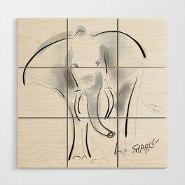 Elephant Wood Wall Art
