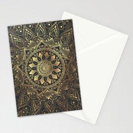 Elegant gold mandala artwork Stationery Cards