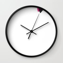 Pink Pizza Weddings Logo Wall Clock