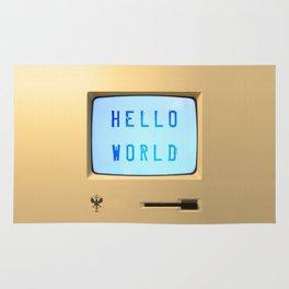 Hello World Personal Computer Rug