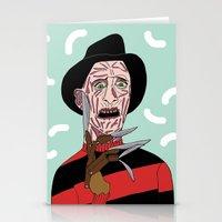 freddy krueger Stationery Cards featuring Freddy Krueger by Elena Éper