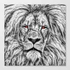 Black Lion Canvas Print