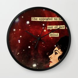 Out of Her Mind... Wall Clock