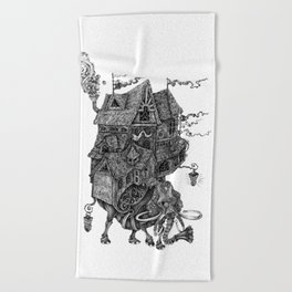 the wandering library 2 Beach Towel