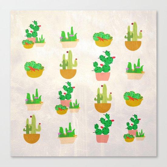 Cacti Festival Canvas Print