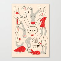bunnies Canvas Prints featuring Bunnies by Jay Fleck