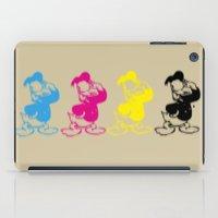 donald duck iPad Cases featuring Donald Duck InQuadri by InQuadricromia