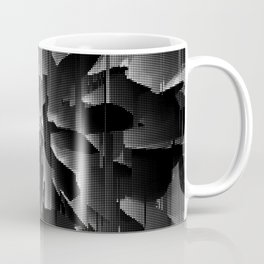 Flowers Exploding with Dots in Black and White Coffee Mug