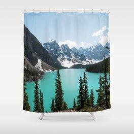 Moraine Lake Landscape Photography Shower Curtain