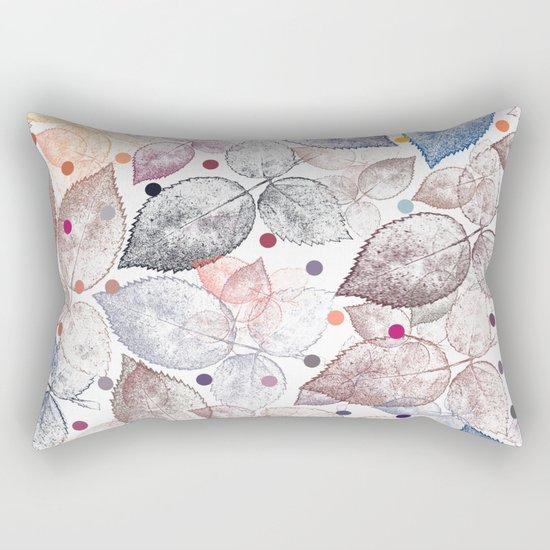 Leaf mosaic(24). Rectangular Pillow
