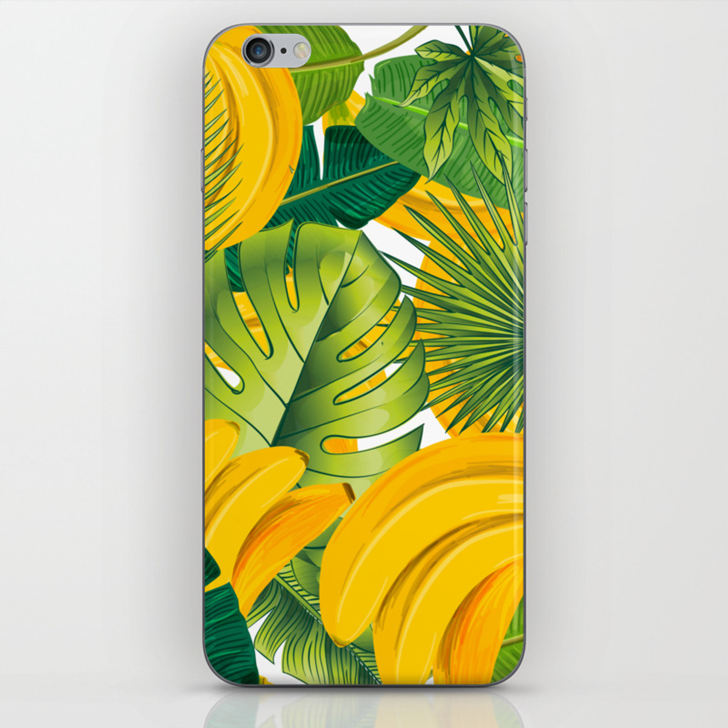 Tropical Leaves Decor Bananas Print Forest Interior Palm Iphone Skin By Lubo Society6 Tropical forests are forested landscapes in tropical regions: society6