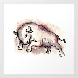 Bull Blood Art Print