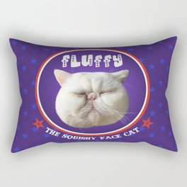 Fluffy, the squishy face cat Rectangular Pillow