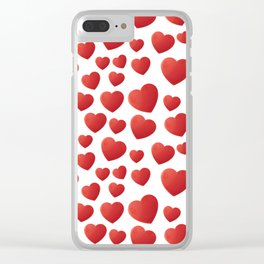 Hearts Pattern Clear iPhone Case