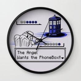 Angels VS The PhoneBox Wall Clock
