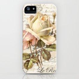 """""""Le Reve"""" Decoupage Roses iPhone Case"""