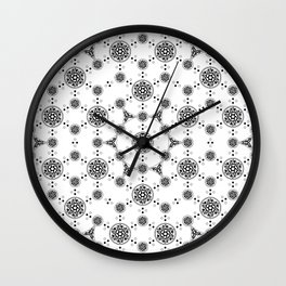 ancient sacred geomertry. seamless pattern. flower of life Wall Clock