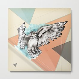 Owl McFly by carographic Metal Print