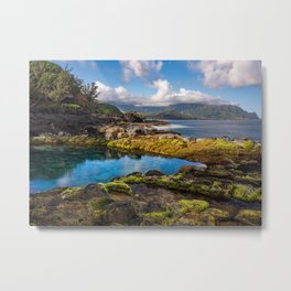 Queens Bath on the Garden island of Kauai Metal Print