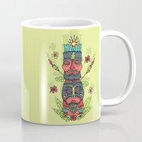 tiki Mugs featuring Tiki totem by Binnyboo
