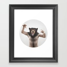 Therianthrope - Angry Bear Framed Art Print