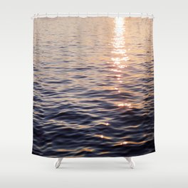 Puget Sound Sunset Shower Curtain