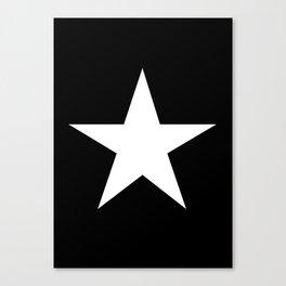 White star on black background Canvas Print