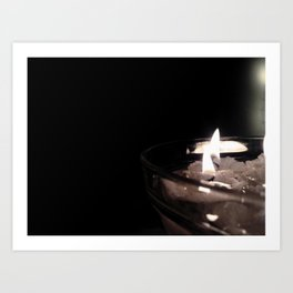 Burning candels Art Print