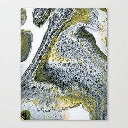 Meditation on Black and Yellow, Vertical Canvas Print
