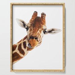 Silly Giraffe // Wild Animal Portrait Cute Zoo Safari Madagascar Wildlife Nursery Ideas Decor Serving Tray