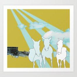 Horses. Art Print
