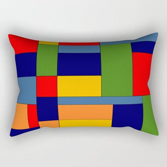 Abstract #348 Rectangular Pillow