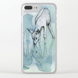 keeps turning Clear iPhone Case
