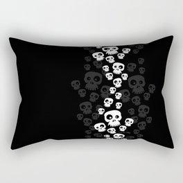 Skulls Fun - black/white Rectangular Pillow