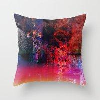 fargo Throw Pillows featuring Fargo abstraction by Jean-François Dupuis