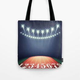 Track and field stadium Tote Bag