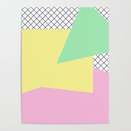 Pastels & Netting - Abstract Art Poster