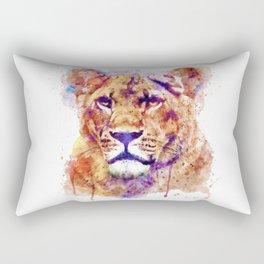 Lioness Head Rectangular Pillow