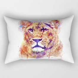 Lioness Head Rectangular Pillow