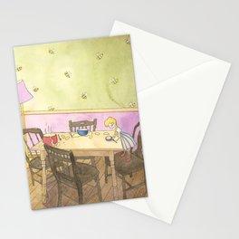 Goldilocks Sampling the Porridge Stationery Cards