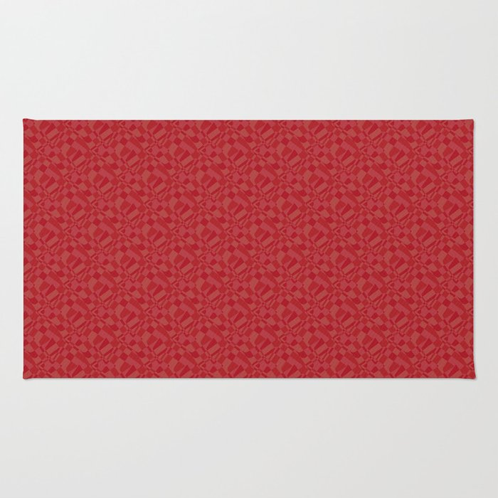 red, scarlet Rug